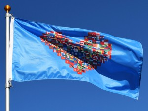 World Peace Flags